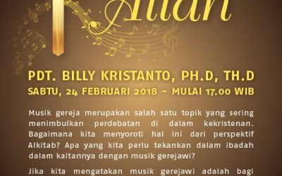Seminar: Musik Gerejawi Bagi Kemuliaan Allah