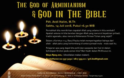 PA Khusus: The God of Arminianism & God in the Bible